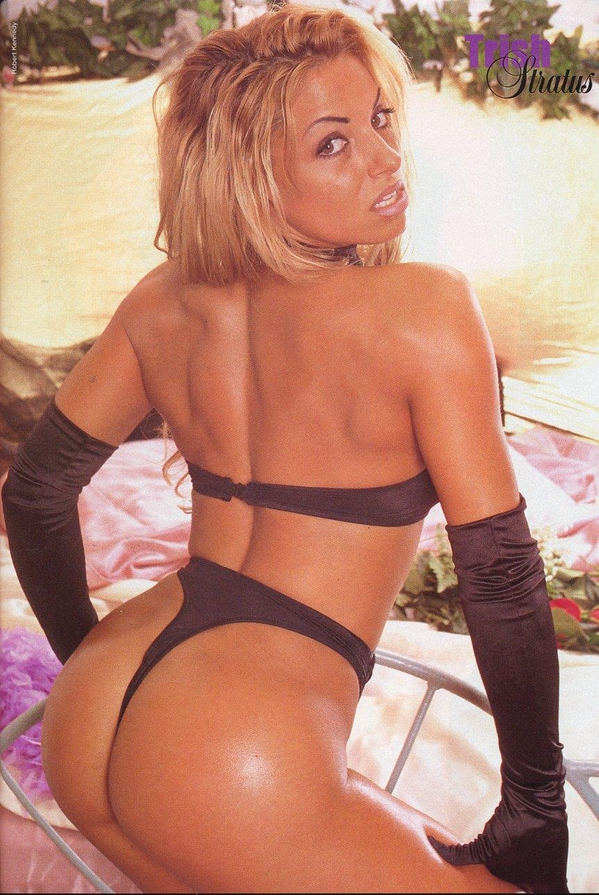 Trish Stratus Bent Over In Pink G String Tztsqki